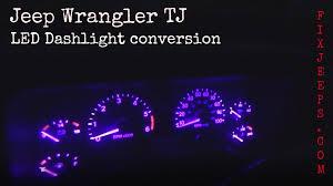jeep wrangler dashboard lights tj led dashlight conversion jpg