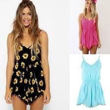 jumpsuit shorts v neck playsuit summer jumpsuit