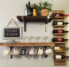 Furniture Wall Mounted Wine Racks For Inspiring Floating Shelves - Wall hanging shelves design