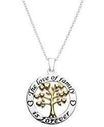 inspirational necklace inspirational family is forever pendant necklace in 14k gold