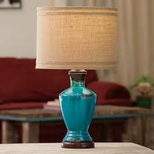 Teal Table Lamp Western Lamps And Rustic Lighting Lone Star Western Decor