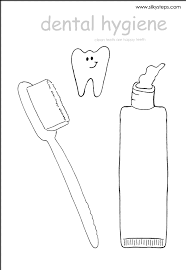 toothpaste tube outline template for craft activity