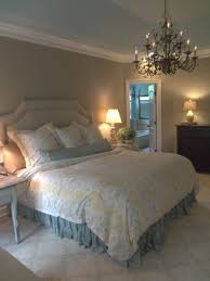custom belgian linen headboard in shabby french bedroom
