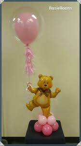teddy centerpieces for baby shower teddy balloon decor for a baby shower baby shower balloon