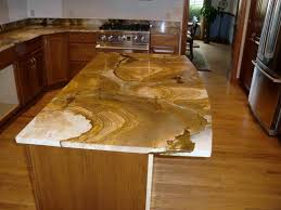 affordable kitchen decor with polished granite countertop and