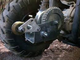 rear hand winch yamaha grizzly atv forum