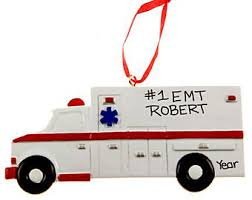 Fire Trucks Decorated For Christmas Ambulance Decor Etsy