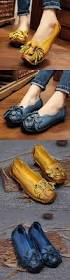 Soft And Comfortable Shoes 26 46 Socofy Genuine Leather Handmade Flower Loafers Soft Flat