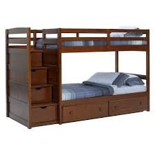 twin over twin bunk bed with stairs full over twin bunk beds with