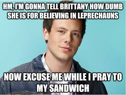 Glee Meme - grilled cheesus hahaha tv shows pinterest grilled cheesus