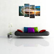 framed canvas art print sea wave canvas painting wall art for home