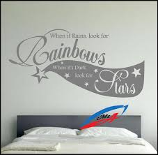 wall art stickers decors quotes and phrases when is rains look for wall art stickers decors quotes and phrases when is rains look for rainbows when it s dark look for stars t10 wall art stickers