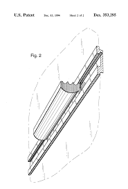 patent usd353295 combined chair rail and chalk shelf for hastac 2011