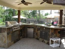outdoor kitchen design for a wonderful patio amaza design compact refrigerator and stainless steel access door storage feat fabulous outdoor kitchen with ceiling fans idea