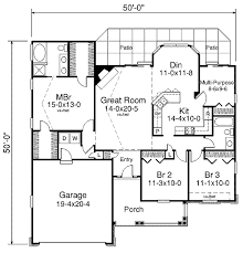 traditional style house plan 3 beds 2 baths 1580 sq ft plan 57