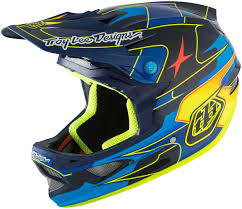 troy lee designs motocross helmet troy lee designs d3 mips carbon render blue yellow motocross