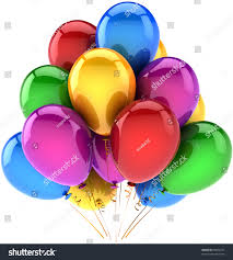 party balloons birthday balloon decoration holiday stock