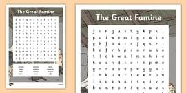 the great famine cause and effect worksheet gaeilge the