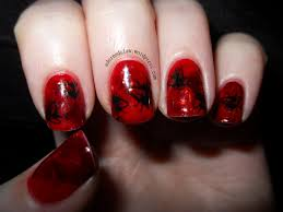 halloween nail art gore glitter and flies the adorned claw