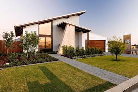 Slanted Roof House Amazing Exterior Design Of A Modern Loft House With Skillion Roof