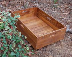 under bed storage rolling crate from reclaimed wood wooden