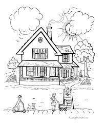 fashionable idea house coloring free printable house coloring