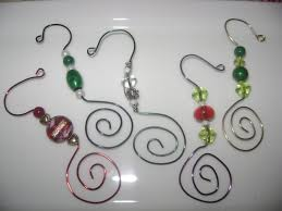 day wire bead christmas ornaments wire ornament hanger 1