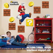 Super Mario Home Decor Wall Sticker Ideas For Kids Rooms Room Design International