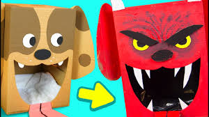 craft ideas for halloween diy evil cardboard dog halloween decor craft ideas for kids on