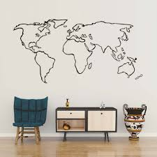 world map sticker wall art hershey park campground map antartica map online shop creative world map wall sticker modern minimalism creative world map wall sticker modern minimalism vinyl wall art decal for kids rooms office