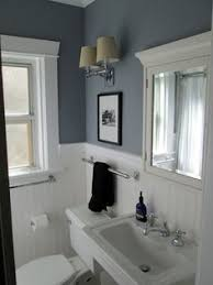 bathroom wainscoting and great paint color above home
