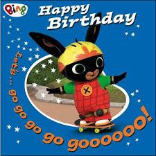 bing skateboard birthday card from ocado