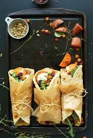 how to make sweet potato for thanksgiving vegan thanksgiving wraps minimalist baker recipes