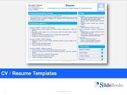 powerpoint resume template resume cv templates in editable powerpoint