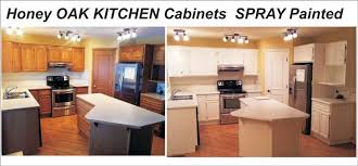 painted kitchen cabinets with oak trim 01 oak kitchen cabinet painting refinishing into white
