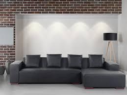 basika canapé canapé d angle noir large choix de produits à découvrir