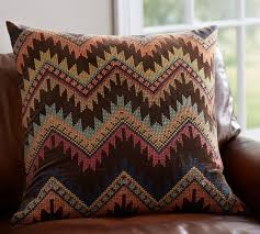 Pottery Barn Kilim Pillow Cover Velvet Cross Stitch Pillow Cover Pottery Barn