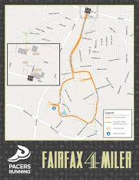 George Mason Map Fairfax Four Miler Pacers Running