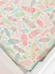 Flannel Crib Bedding Pastel Feather Crib Sheets Feather Bedding Flannel Baby