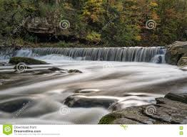 Ohio Waterfalls Map by Autumn Silky Waterfall Olmsted Falls Ohio Stock Photo Image