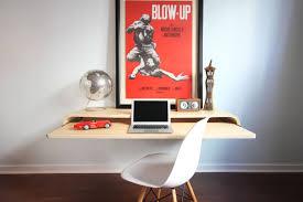 home office minimal float wall desk