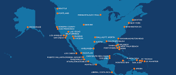 Spirit Route Map by Travel Destinations Sun Country Airlines