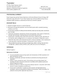 Sample Resume For Diploma In Mechanical Engineering by Power Engineer Cover Letter