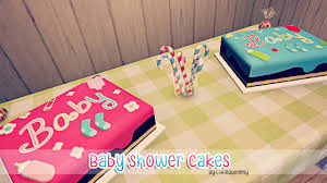 Mod Baby Shower by My Sims 3 Blog Baby Shower Cakes By Littlequeenny