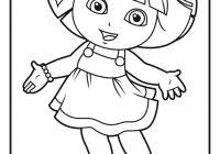 dora coloring pages thanksgiving free coloring pages