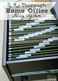 Home Office Organizers Organizing The Most Thorough Home Office Filing System Filing