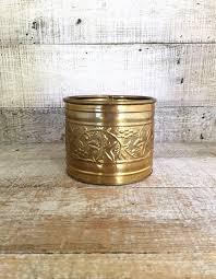 brass planter small planter brass indoor planter metal plant pot