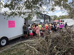 hurricane irma survivors donating and receiving supplies flickr