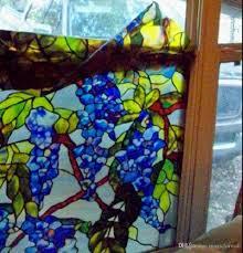 3d colorful grape vine window film static cling glass film non
