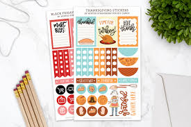 happy thanksgiving printable thanksgiving and black friday printable planner stickers